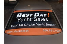 - Vehicle Graphics - Window Graphics - Best Day! Yacht Sales - Anacortes, WA