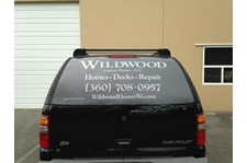 - Vehicle Graphics - Vehicle Window Graphics - Wildwood Custom Homes - Anacortes, WA