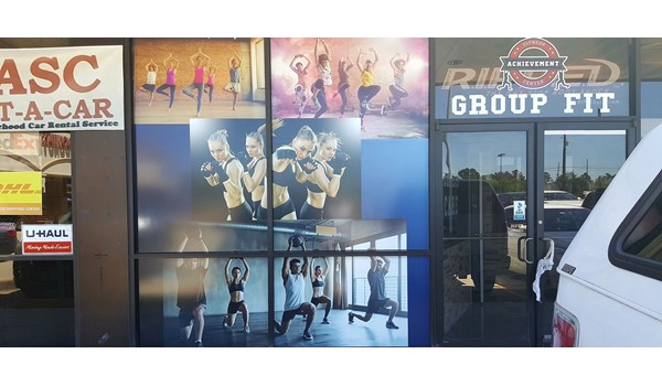 Full Color Exterior Window Graphics For Houston Retail