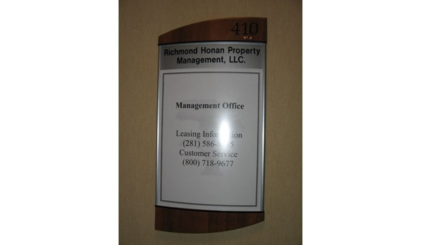 Interior Directory Board Houston Area Property Manager