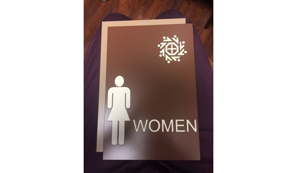 Disability and Wayfinding Building Suite ADA bathroom signage in Houston, TX