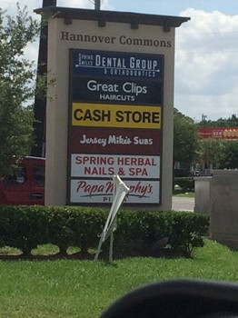 Lighted Stucco Multi Tenant Sign for Houston Retail Center